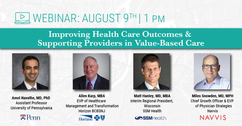 NIHCM Webinar: Improving Health Care Outcomes & Supporting Providers in Value-Based Care